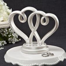 Interlocking Hearts Cake Topper - White - NEW - Wedding Supplies
