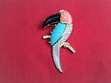 Fabulous Large KJL Toucan Bird Vintage Brooch Pin