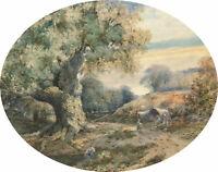 Fine Late 19th Century Watercolour - The Great Oak, Sherwood Forest