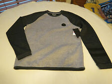 Hurley Men's S sm Long Sleeve shirt MTF0006000 NWT Phantom grey & black heather