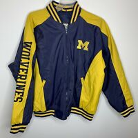 Michigan Wolverines Steve and Barry's Mens XL Blue/Yellow NCAA Varsity Jacket