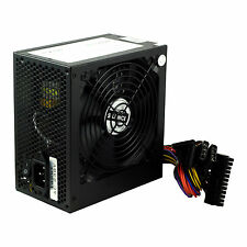 Noir 500 W 12 cm silent fan atx alimentation pc ordinateur psu 500 watt SATA 24 broches