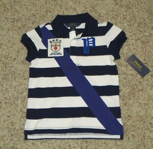 Ralph Lauren Girls Navy / White Striped Top - Size 6 - NWT