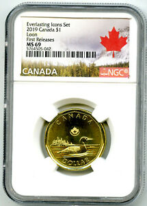 2019 CANADA $1 NGC MS69 FIRST RELEASES EVERLASTING ICONS LOON LOONIE TOP GRADE=1