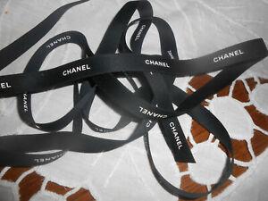 3m de ruban Chanel noir et blanc (en continu)