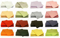"""Hotel Quality Solid Bedding Item 600 -TC Soft 100% Cotton Luxurious 15"""" Deep"""