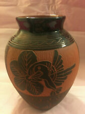 Navajo Etched Vase signed by J Williams