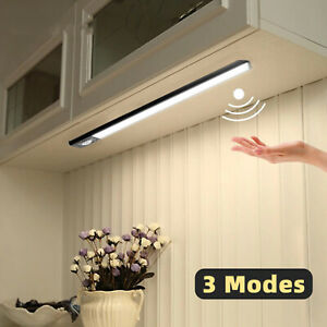 LED Closet Night Light Motion Sensor Rechargeable USB Magnet Strip Cabinet Lamp