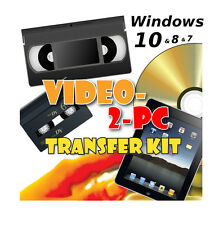 Captura de vídeo VHS & Videocámara Hi8 Y Minidv Para PC/DVD en Windows 10, 8 y 7