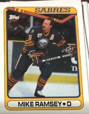 1990 Topps Hockey #102 Mike Ramsey - Many Sport Cards Available