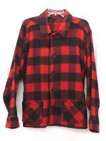 vintage 40s 50s mens red black BUFFALO PLAID shirt jacket wool tweed hunting M L