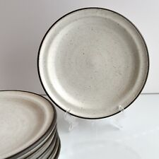 Vintage RARE Stoneware ZAALBERG POTTERY Breakfast Plate  x 2 Holland MCM 60's