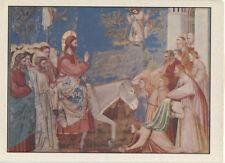 Alte Kunstpostkarte - Giotto di Bondone - Einzug in Ägypten