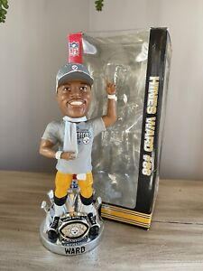 HINES WARD Pittsburgh Steelers SUPER BOWL XL Ring Base MVP Bobblehead NIB!