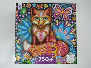 Ceaco Groovy Fox 750 Piece Puzzle W Puzzle Poster New Sealed