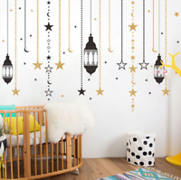 Curtain Star Chandelier Ramadan Festival Wall Sticker Mural Art Decal Home Decor