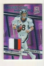 New listing Peyton Manning 2019 Spectra Milestone Moments Neon Pink Jersey 06/15 Broncos