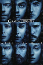 GAME OF THRONES WINTER IS HERE 24x36 POSTER SEASON 7 SS7 CAST STARK JON DRAMA TV