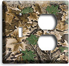MOSSY TREE OAK LEAVES HUNTER CAMO CAMOUFLAGE LIGHTSWITCH OUTLET WALL PLATE COVER