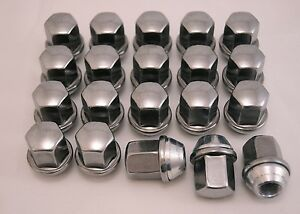 20 New Dodge Chrysler Factory OEM Polished Stainless Lug Nuts Lugs 6036433AA