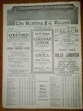 More details for rare pre war programme reading v swindon town 23rd december 1933