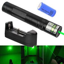 600Miles 532nm Rechargeable Green Beam Laser Pointer Pen+16340 Batt+Charger