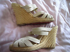 Cute !!! CHRISTIAN LOUBOUTIN Wedge Sandals !!  sz 8-9  (euro sz 39)