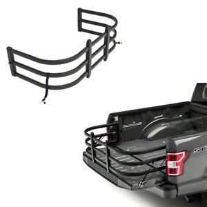 For F150 GMC Chevy Ram Tundra Black Bed extender Truck Bed Extender Fence Rack