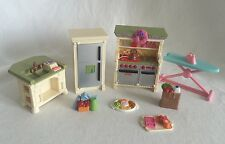 Fisher-Price Loving Family Kitchen 8pc Stove Refrigerator Center Island & More
