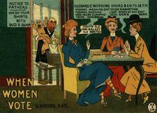 """Vintage Suffragette Propaganda """"WASH DAY WHEN WOMEN VOTE"""" 250gsm A3 Poster"""