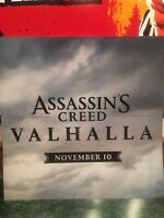 Assassins Creed Valhalla Poster Assassins Creed Store Display Ubisoft Games
