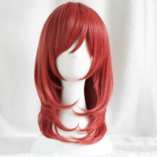 LoveLive! Love Live Maki Nishikino Synthetic Hair Short Red Cosplay Wig + Cap
