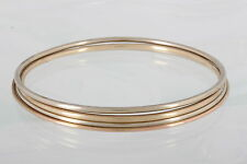 SET OF FOUR COPPER & BRASS BANGLE BRACELETS FASHION 1336