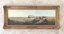 HERBERT HORRIDGE 1892- 1947 Oil on Canvas Farming Scene Painting 41.5 x 17.25