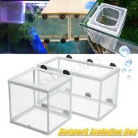 Zucht Netz Box Fisch L / Größe M Aquarium + Saugnapf Aquarium Zuchtnetz
