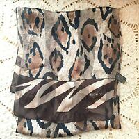 Women's Echo Animal Print Light Silk Long Scarf 51 x 11