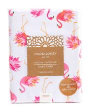 "Cynthia Rowley  In/Outdoor Flamingo Tablecloth 60x84"" Oblong Weimaraner Rescue"