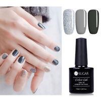 3pcs Grau + Glitzer Nagel Gellack Nail Polish Kit Soak Off UV LED Gel Nail 7.5ML