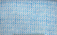 Indian 100% Cotton Voile Fabric Turquoise Sewing Hand Block Print Craft 10 yard