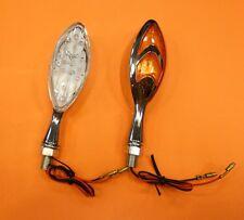 FR- 001434 Coppia frecce led ABS cromate doppie omologate cateye Dyablex