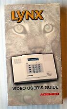 Ademco Lynx - Video User's Guide ~ New VHS Movie ~ Home Security System