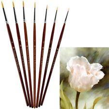 7Pcs Cepillo de Pintura Pelo Pinceles de Uñas Acrílico Arte Pincel Dibujo Pluma