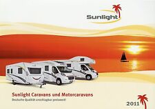 PROSPEKT 2011 Sunlight Ruolotte MOTORE Ruolotte roulotte viaggio mobile motorhomes