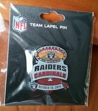 Oakland Raiders VS Arizona Cardinals GAME DAY PIN 10/19/14 BRAND NEW NFL PIN
