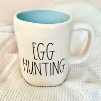"NEW! Rae Dunn by Magenta ""Egg Hunting"" LL Mug With Blue Inside Easter 2021 VHTF"