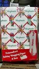 Personalized gift wrap wrapping Christmas xmas Nip Stephanie stockings white