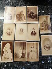New Listing11 Antique Portrait Photographs (cdv) Late 1800's, Unknown Photographers
