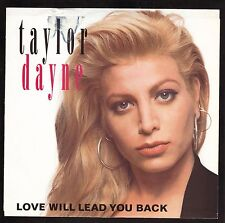 """Taylor Dayne--""""Love Will Lead You Back""""--1990 Picture Sleeve"""