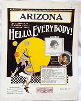 Arizona,Heard & Gideon. JC Williamson Hello Everybody,1916 *Rare AUS Edition*