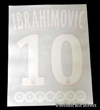 Paris st germain Ibrahimovic 10 2015/16 Football Shirt Name/Name Set Kit HPSG